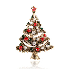CINDY XIANG Colorful Rhinestone Christmas Tree Brooches for Women Vintage Alloy Pins Party Jewelry Coat Dress Accessories 2018