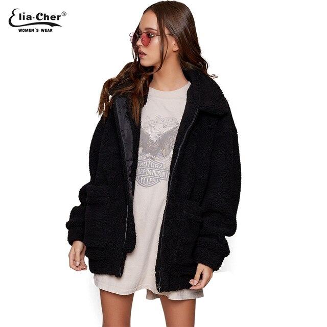 00ade553610 new Parka Women plush Jackets Eliacher Brand Winter Spring Warm Jacket Plus  Size Casual Women Jacket