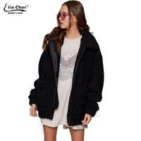 new Parka Women plush Jackets Eliacher Brand Winter Spring Warm Jacket Plus Size Casual Women Jacket Coat Winter Tops 8971