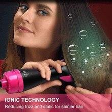New shelves Multifunctional Hot Air Hair Brush Negative Ion Straightening Curler Styling Dryer 789