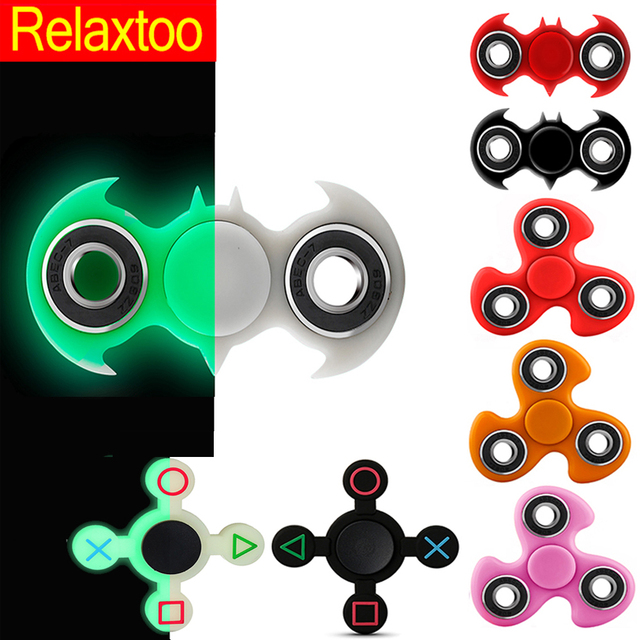 Luminous Fidget Hand Spinner Spinners EDC Tri-Spinner For Autism ADHD Kids / Adult Funny Anti Stress Child Finger Toys 11 Colors