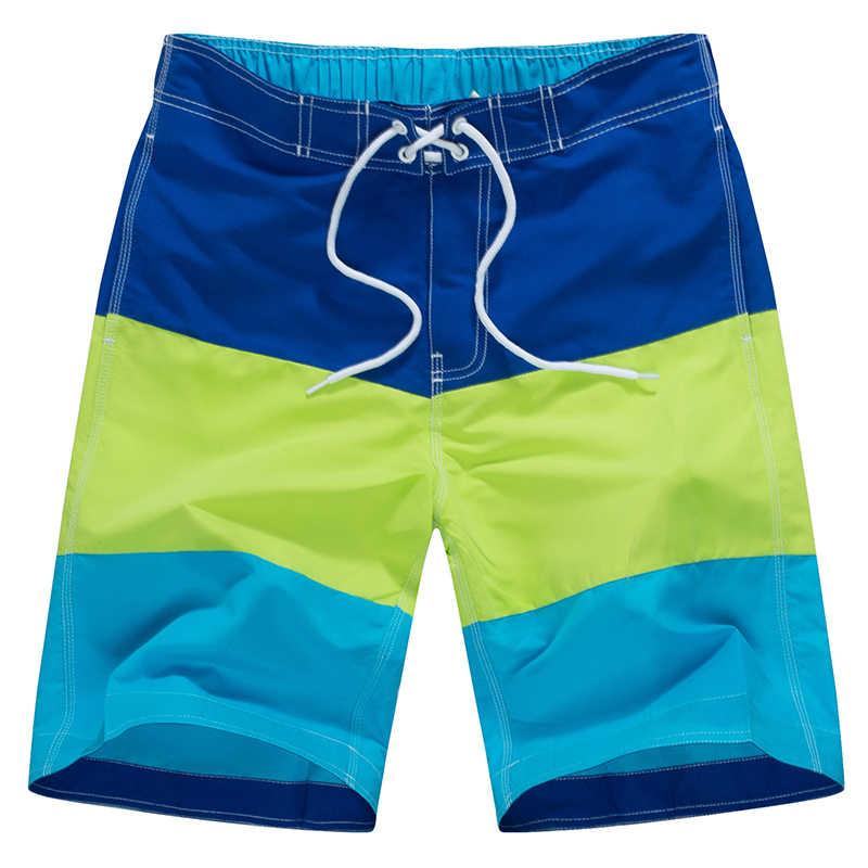 Męskie fajne letnie spodenki do pływania nowa szybkoschnąca plaża surfingowa krótka, sportowa bermudy stroje kąpielowe BoardShorts męskie krótkie