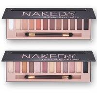 Sombra Paleta de Pigmentos de Maquiagem À Prova D' Água 12 Cores Brilho Brilho Maquiagem Cores Da Paleta Da Sombra Profissional