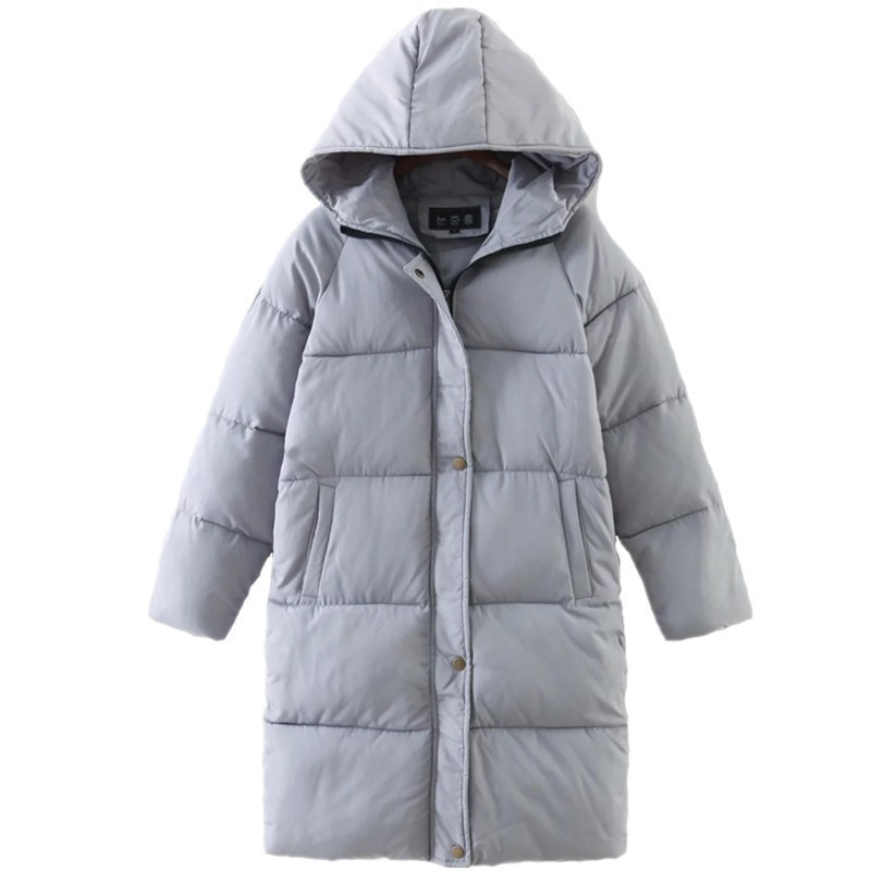 New 2018 Winter Jacket Coat Women Down Parka Plus Size Thick Warm Long Loose Hooded Snow Wear Cotton Padded Quilted Jacket