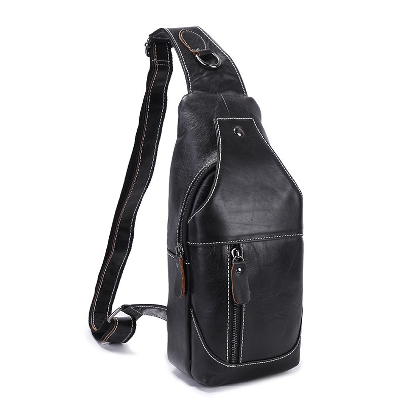 BULL CAPTAIN 2017 Fashion Genuine Leather Crossbody Bags men casual messenger bag Small Brand Designer Male Shoulder Bag chest