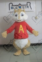 high quality EVA head with fan and helmet long plush quality alvin mascot costume chipmunk costumes