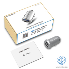 CelBro Mini Dual USB Car Charger for Smart Phone, Tablet, MP3 Player