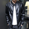 Spring new collar locomotive men PU leather jacket youth spring skirt leather jacket leisure