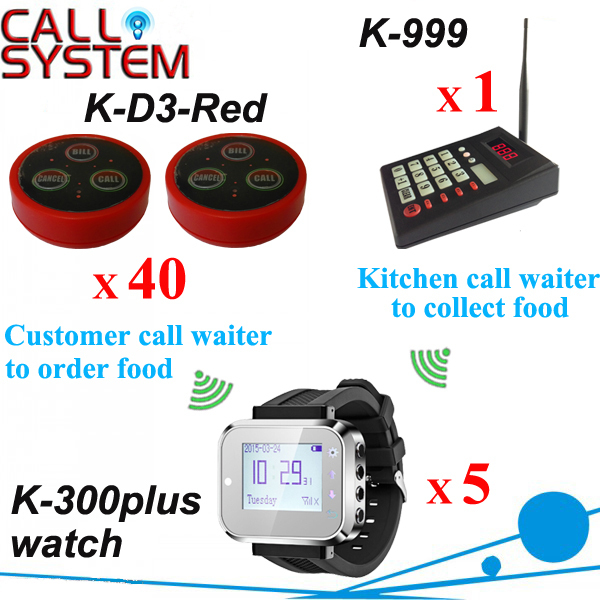 Беспроводной связи называя систему ; гость официант на заказ шеф-повар вызова официанта забрать заказ ( K-999 клавиатура K-300plus K-D3 )