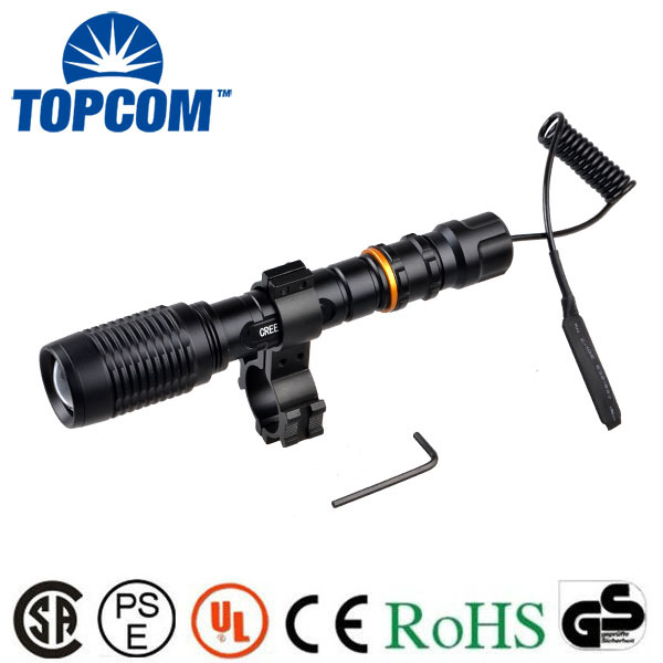 [Free Ship]New Arrival Gun Rifle Hunting Lights Military T6 Torch T6 LED Tactical Flashlight just off/on light ...