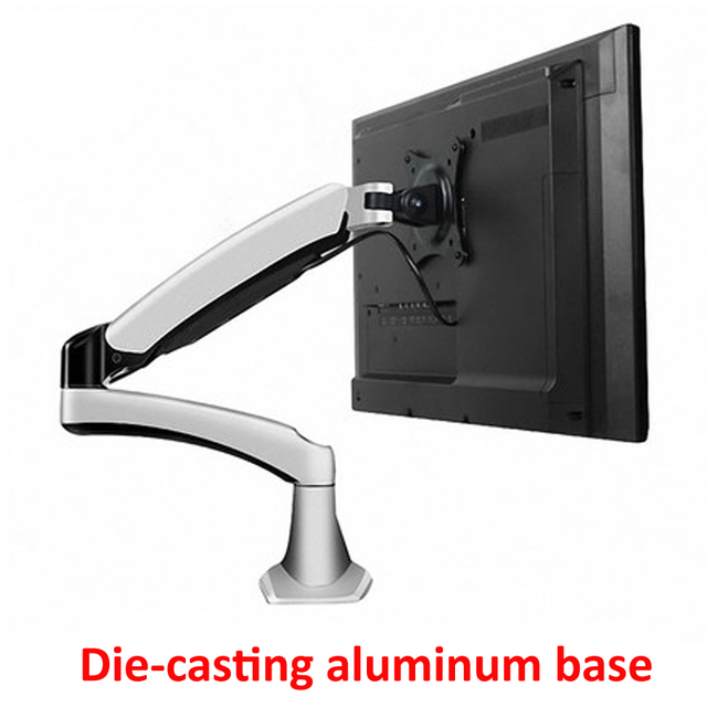 aluminum 27inch 2 7kg 360 rotate clamp air press gas strut lcd tv