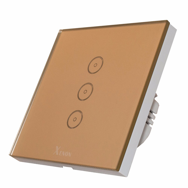 ФОТО Smart home Auto Xenon Wall Switch 110~240V Smart Wi-Fi Switch button Glass Panel 1gang 2gang 3-gang EU Touch Light Switch panel