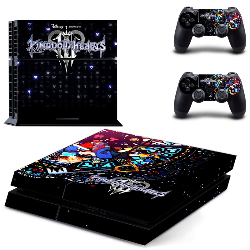 HOMEREALLY Stickers PS4 Skin KING DOM HEARTS Sticker for Sony Playstation 4 Controller and Console Skin PS4 Accessory-in Stickers from Consumer Electronics