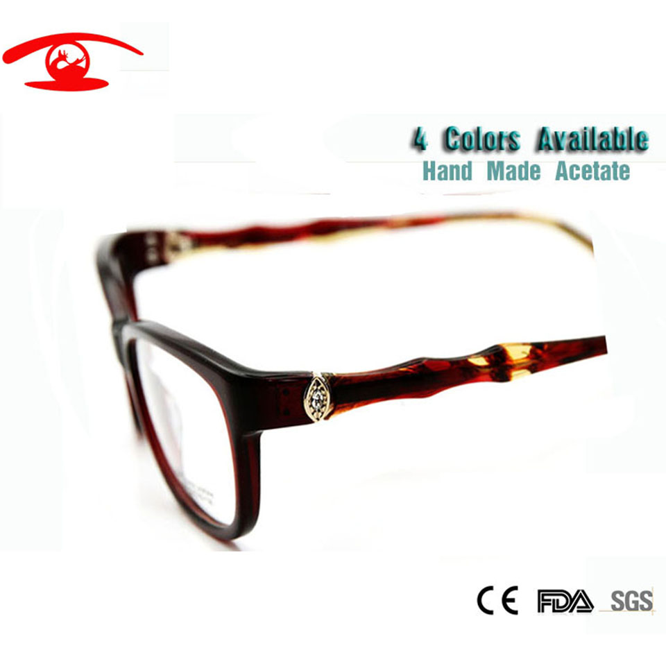 ed33a1bfaa Fashion Brand Designer Eyeglasses Frame Women Luxury Diamond Womens Golden  Half Rim Glasses Frames Prescription Eyewear Rx