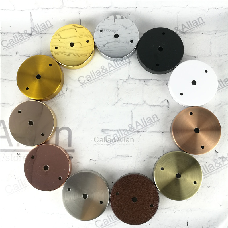 Free shipping Vintage DIY lighting canopy sample order D100mm*H20mm antique brass rose gold 11 color finished iron ceiling plate free shipping one sample order new style geometrical figure simple iron black finished pendant lamps dk 60