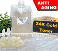 1KG Nano 24K Gold Foil Toner Skin Care Serum Anti Aging Wrinkles Whitening Mosturizing 1000ml Beauty Salon Equipment Wholesale