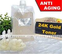 1KG Nano 24K Gold Foil Toner Skin Care Serum Anti Aging Wrinkles Whitening Mosturizing 1000ml Beauty Salon Equipment Wholesale