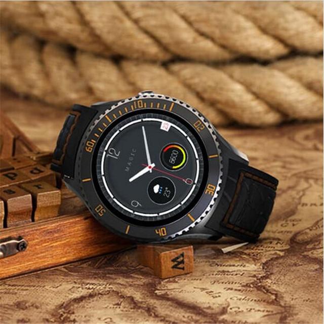 I2 Bluetooth Smart Watch Кожаный Браслет Smartwatch Android 5.1 OS С СИМ-Карты 3 Г WIFI GPS Google Play Магазин Карта для Android