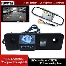 Fuwayda Цвет заднего вида Камера для Volkswagen Skoda ROOMSTER Octavia Tour FABIA, с 4.3 дюймов зеркало заднего вида Мониторы