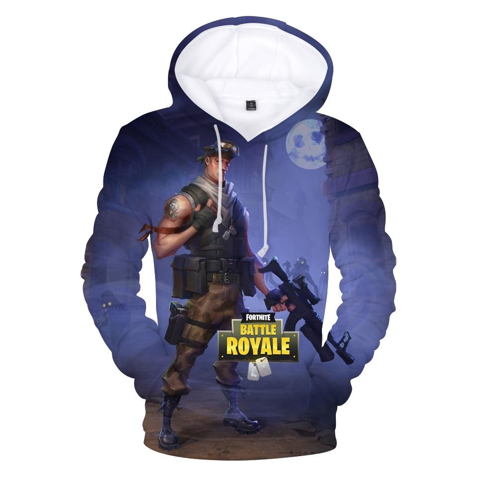 New Pullover Hoodie Sweatshirt Plus Size XXS-4XL O-Neck Hooded 3d Printed Fortnite Hoodies Men Costume Hip Hop Dropshipping