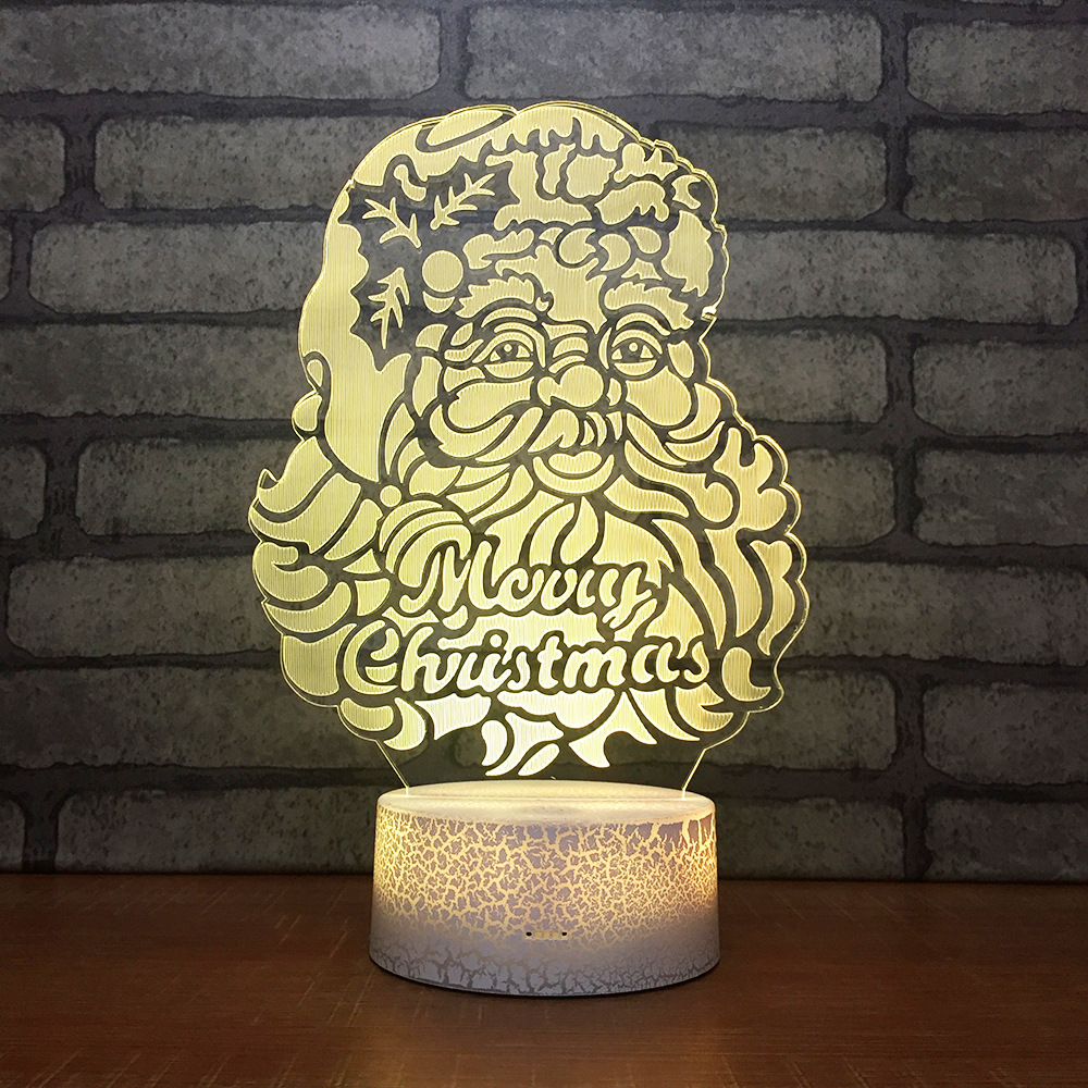 Careful Santa Claus Creative Gift Led Table Lamp Colorful Remote Touch 3d Night Light Christmas Decorations Gift For Baby Room Desk Lamp Spare No Cost At Any Cost