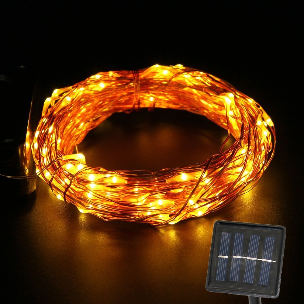 Copper String Lights Solar : Solar LED String Light Copper Wire Fairy String 15M 150LEDs Waterproof for Outdoor,Gardens,Homes ...