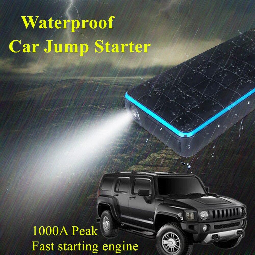 Высокой емкости автомобиль скачок стартер пик Водонепроницаемый супер 1000А пускового устройства Автомобильное зарядное устройство для Booster бустер Аккумулятор огни автомобиля СОС