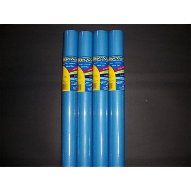 RiteCo Raydiant 80153 Riteco Raydiant Fade Resistant Art Rolls Bright Blue 48 In. X 12 Ft. 4 Pack unix outside 14 ft blue