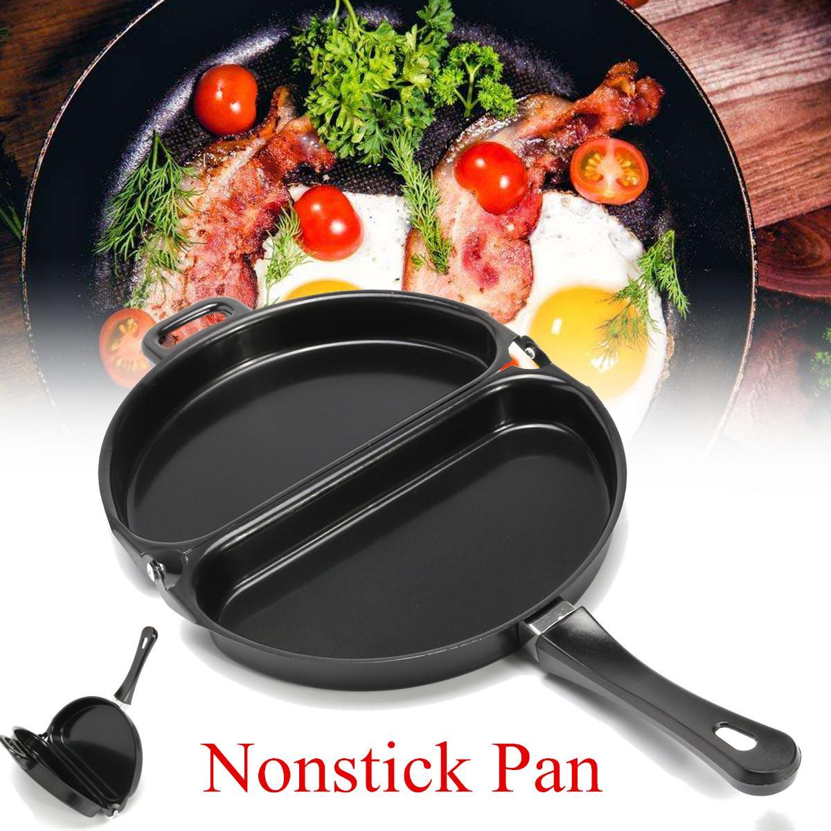 Titanium Steel Nonstick Omelet Pan Kitchen Breakfast Skillet Egg Frying Maker Portable Outdoor picnic BBQ Cooking tableware