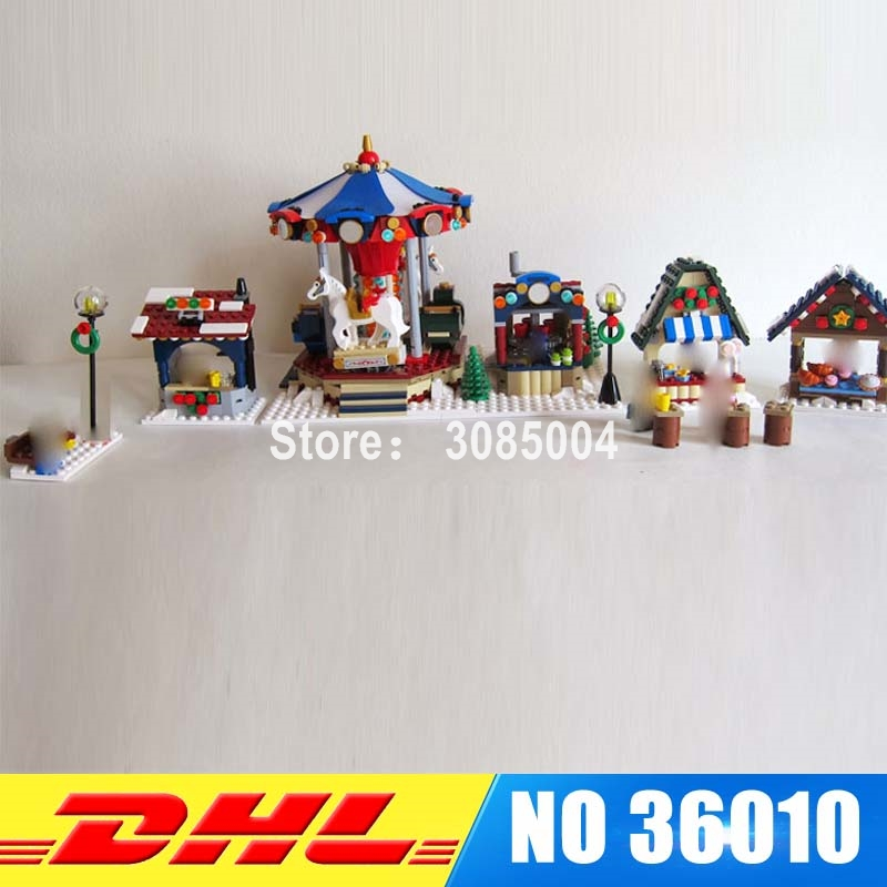 Lepin 36010 The Winter Village Market Set DIY Creative Series 1412Pcs 10235 Building Blocks Bricks Educational Toys Funny Gifts lepin 36010 genuine creative series the winter village market set legoing 10235 building blocks bricks educational toys as gift