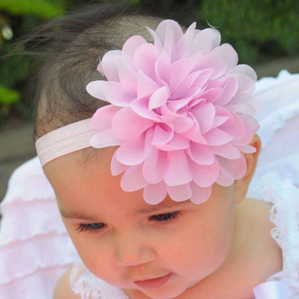 1Pcs Lace Flower Baby Girls Headwear Toddler Headband Hair Band Accessories 0-2Y ZV37