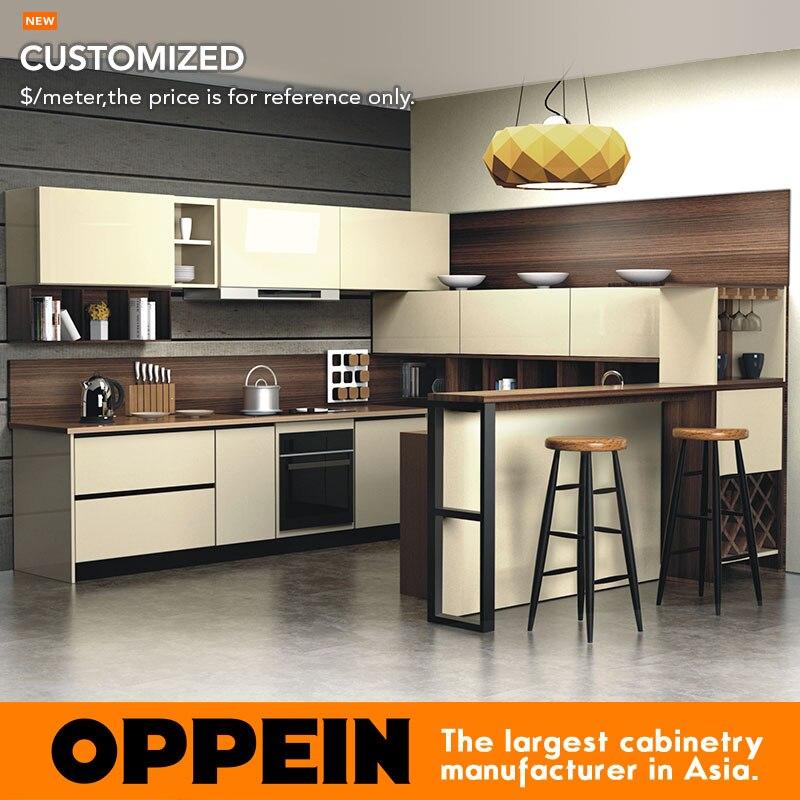 US $401.0 |Armadio da cucina mobili pannello porta finitura acrilico Blum  Hardware armadio da cucina Armadio Da Cucina Moderna OP16 088-in Mobili da  ...
