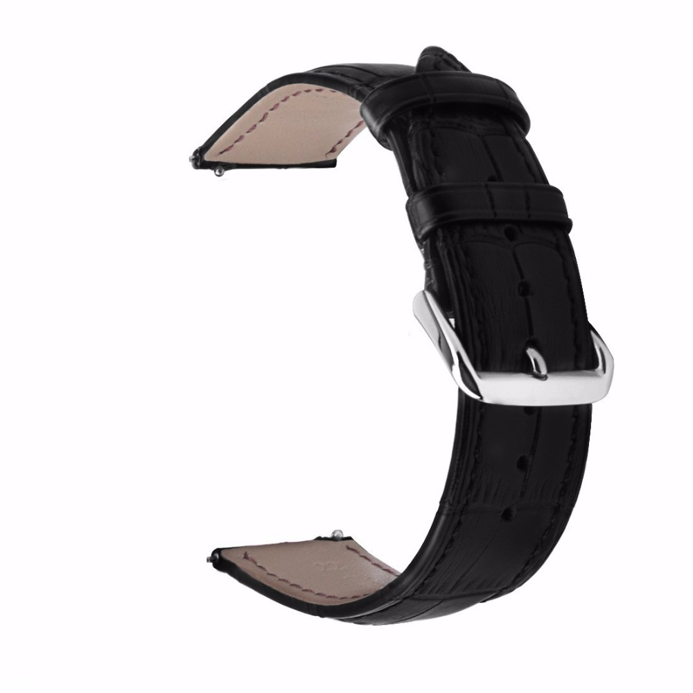 Genuine Leather Crocodile Pattern Replacement Strap Band for Samsung Gear S3 Classic/Frontier Smart Watch Black genuine leather strap for samsung gear s3 smart watch band replacement watch bracelet for gear s3 classic frontier smart watch