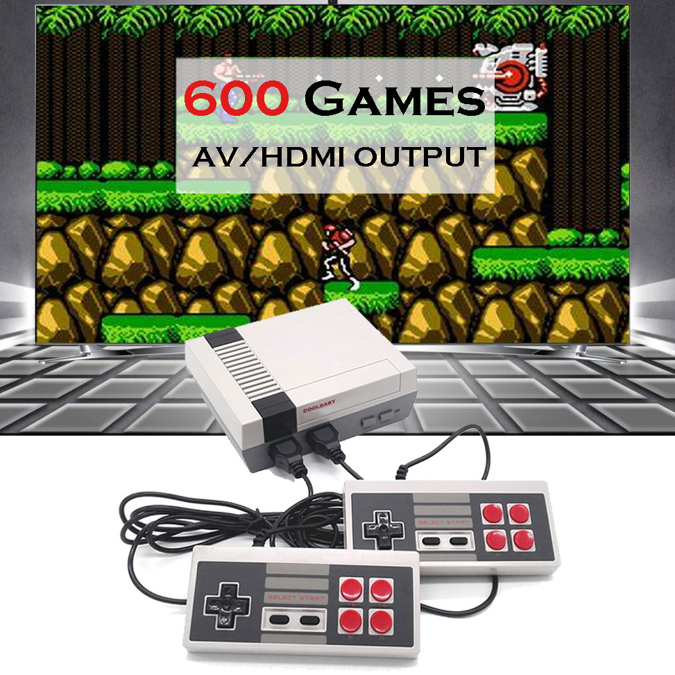 Mini TV Game Console Support HDMI/AV 8 Bit Retro Video Game Console Built-In 600 Games Handheld Gaming Player 9 Pins Controller(China)