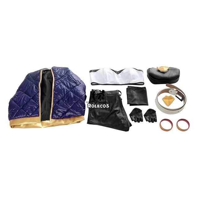 ROLECOS Game LOL K/DA Akali Cosplay Costume LOL KDA Akali Cosplay Costume Winter Uniform Costume for Women Full Set  3