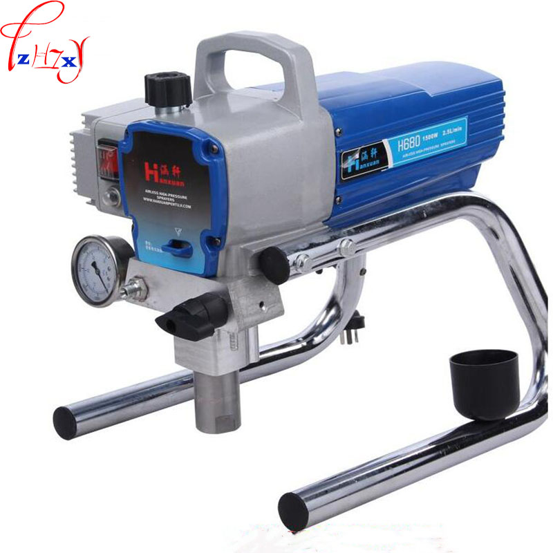 H680 High Pressure Airless Spraying Machine Professional Airless Spray Gun Airless Paint Sprayer Wall spray Paint sprayer sat1215 spray gun airless on chrome pneumatic pressure tanning stainless paint