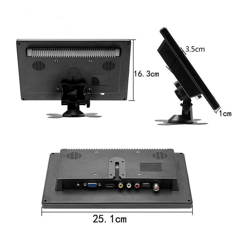 Image 4 - 10.1 inch 1280x800 HD Touch Screen for PS3/4 Computer Xbox Portable Display Security Monitor with Speaker VGA HDMI Interface-in LCD Monitors from Computer & Office