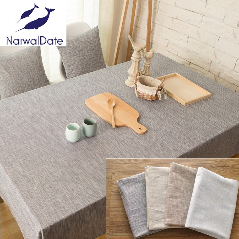 Japan style pastoral tablecloth plain solid color cotton linen tablecloth table cover for desk party dining