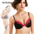 Top France Brand Luxury Embroidery Floral Bra Sets Female Underwear,Sexy Women Push Up Brassiere and Transparent Thong Set BS228