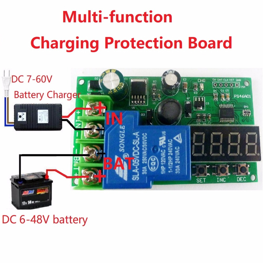 1 PCS 6-60V Lead-acid Lithium Battery Battery Charging Protection Board UPS Car Solar1 PCS 6-60V Lead-acid Lithium Battery Battery Charging Protection Board UPS Car Solar
