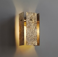 Дания Дизайн все латунь светодиодный настенный светильник/28 см высокий/Luxery золотой с деревом текстуры