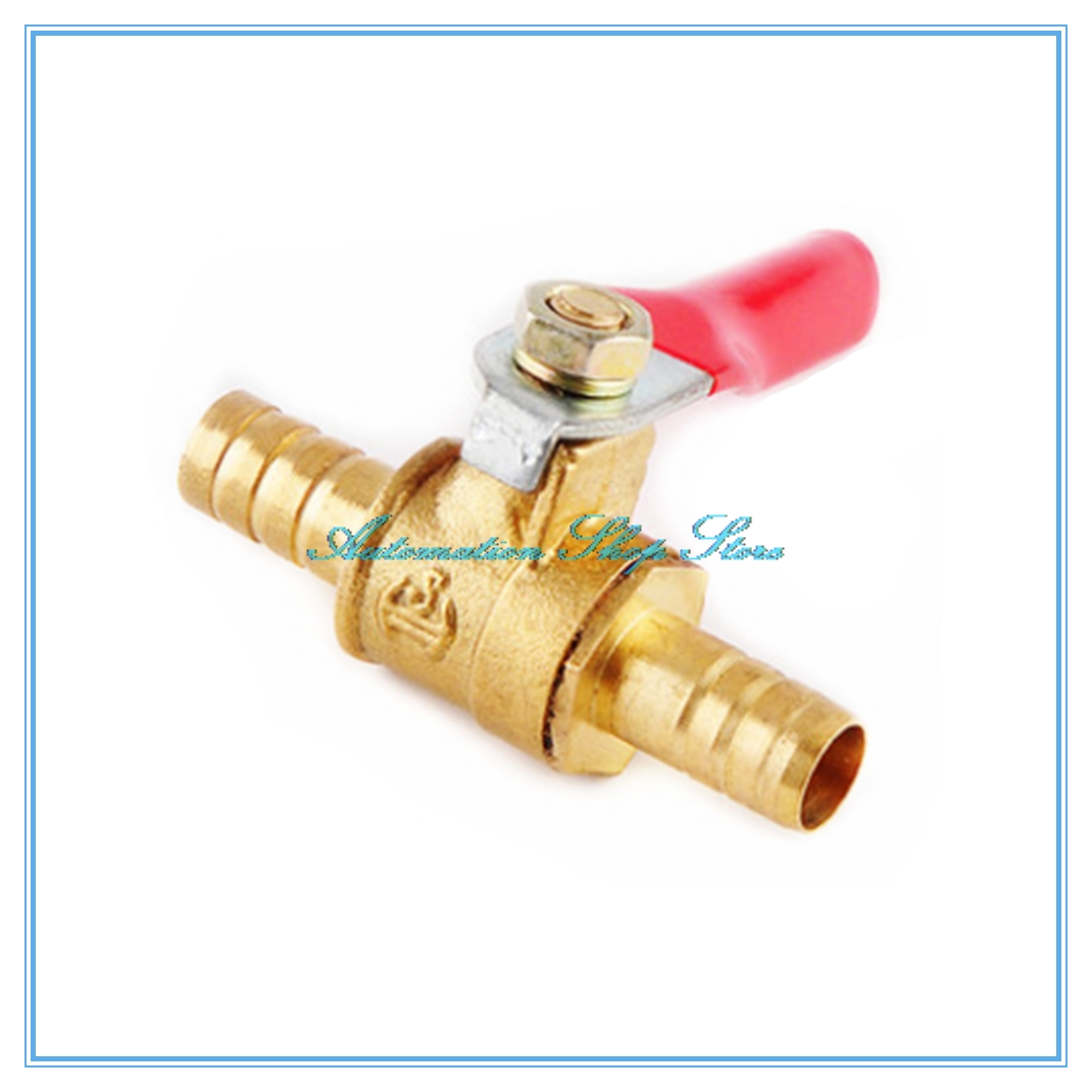 """Water Fuel In-line Brass Ball Valve 1//4/"""" BSP to 8mm Barb Connecter For Air"""