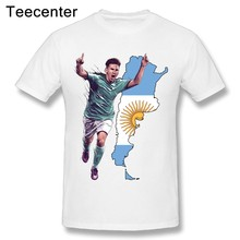 ff7056476 Awesome Barcelona Argentina World Cup Lionel Messi T Shirt Cool Men Brand  Round Neck Tees T