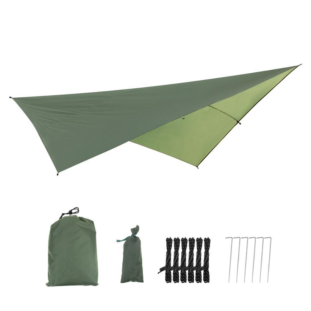 Portable Lightweight Outdoor Camping Sunshade Hammock Cover Shelter Waterproof Hammock Tent Rain Fly Tarp