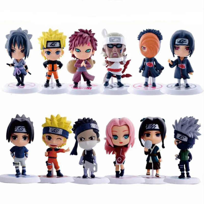 12 Styles 6 pièces/1 jeu de figurines Naruto Anime Zabuza Haku Kakashi Sasuke Naruto Sakura PVC modèle Collection jouets pour enfants