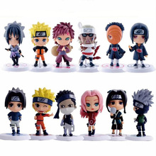 цена 12 Styles 6Pcs/1Set Anime Naruto Action Figure Toys  Zabuza Haku Kakashi Sasuke Naruto Sakura PVC Model Collection Kids Toys онлайн в 2017 году