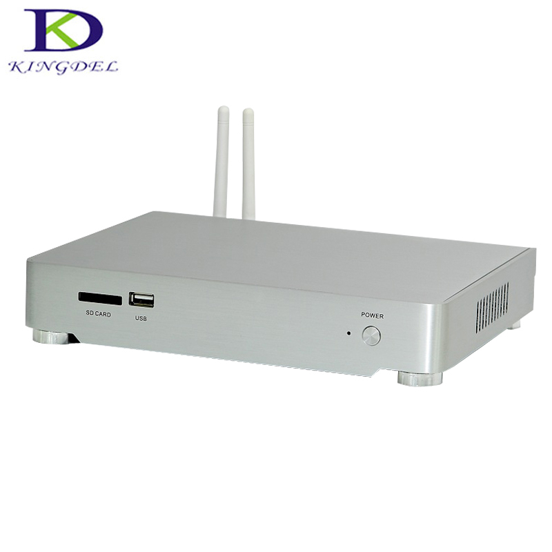 Silent Fan Low Noise Intel i5 4260U Nettop Mini PC with Gaming Desktop PC HDMI VGA HTPC ,Metal Case,HTPC Max 8GB RAM 256GB SSD