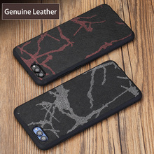 wangcangli Genuine Leather Phone Case For HUAWEI Nova 2S Line Texture Back Cover Huawei Mate 9 10 P10 P20 Pro Plus Cases
