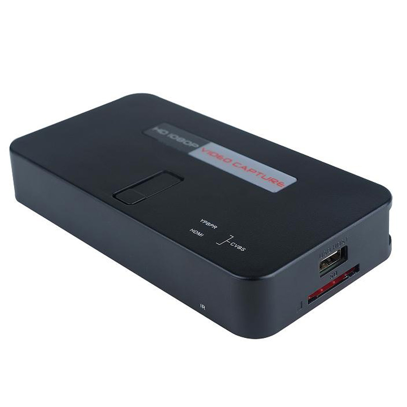 1080P 30fps,Video audio capture card from HDMI/YPbPR interface enquipment to USB Drive or SD TF Card directly, Free shipping