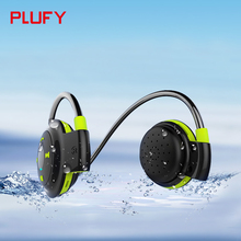 Plufy Bluetooth Headset Wireless Stereo font b Headphone b font Microphone AptX Sweatproof Sport Earphone for